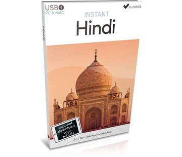 Eurotalk Instant Leer Hindi voor Beginners - Taalcursus 2 in 1
