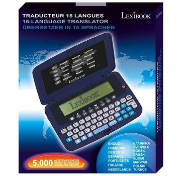 Lexibook Vertaalcomputer Lexibook NTL1570 - Zakformaat vertaalapparaat 15 Talen - Pocket vertaler