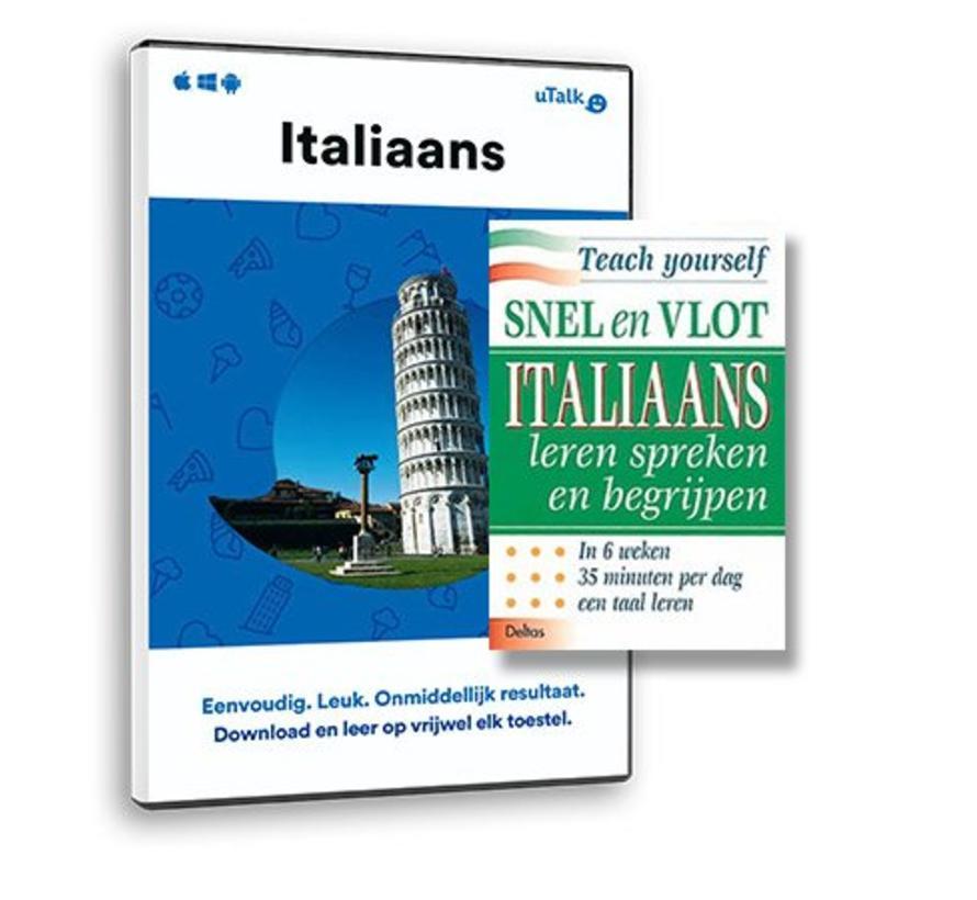 Compleet Italiaans leren:  Online taalcursus + Leerboek Italiaans