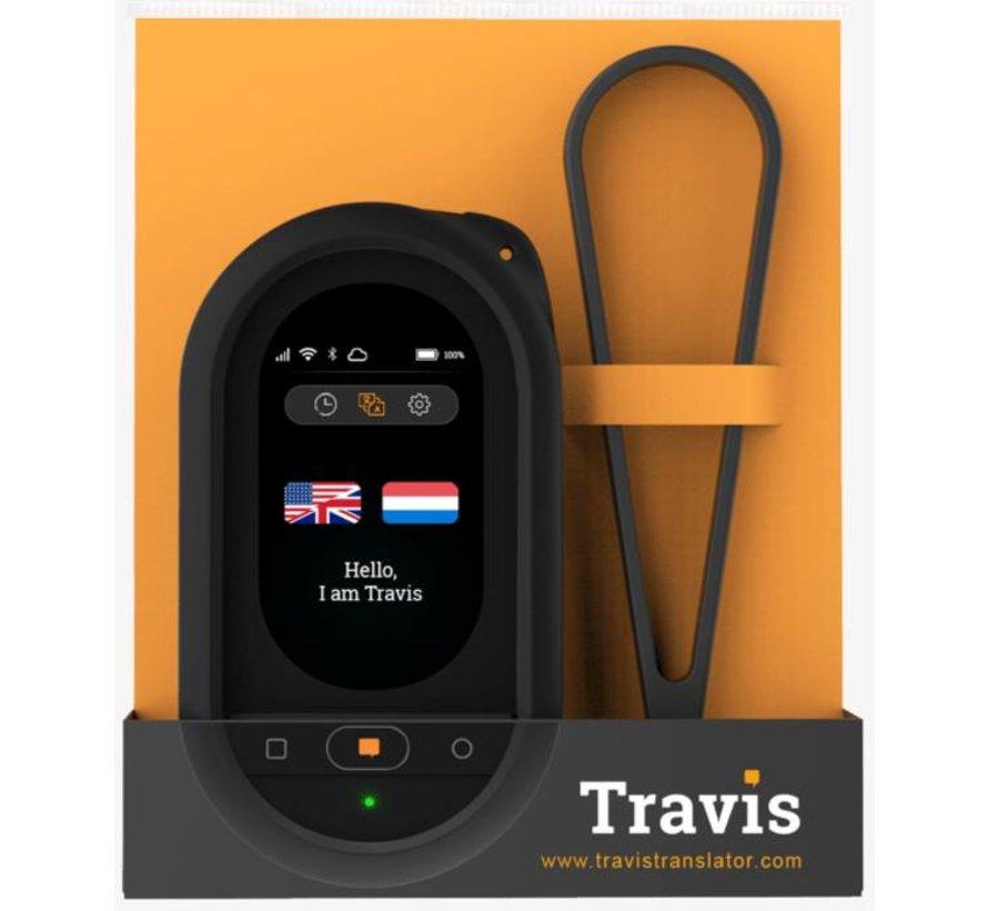 Officiële Travis Translator beschermhoes met afneembare riem Zwart