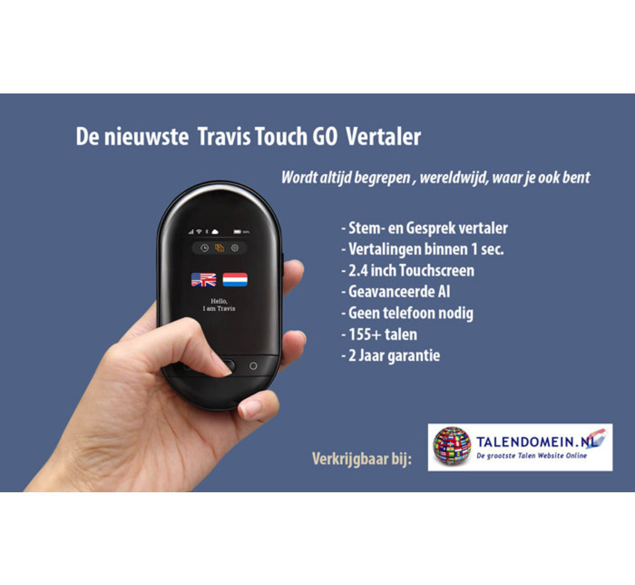 Travis Touch Travel edition (Vertaalcomputer + Gratis data/simcard + Beschermhoes)