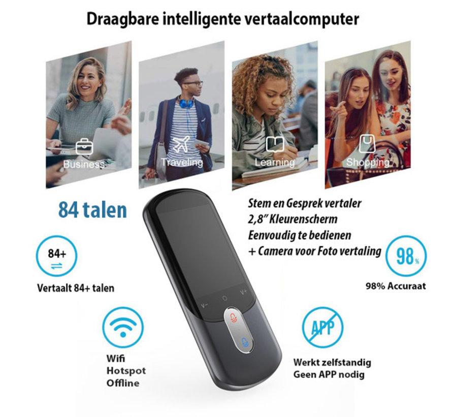 ECV8 Vertaalcomputer 84 talen  - Draagbare Spraak- en Gesprek vertaler (Online/Offline/Wifi)