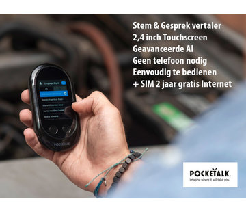 Pocketalk Translator - Vertaalcomputer Pocketalk Vertaalcomputer - Intelligente Spraak en Gesprek Vertaler | Pocketalk Translator + eSIM kaart voor gratis internet