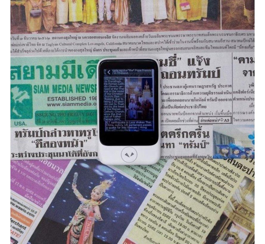 Pocketalk Translator  | Spraak, Tekst, Foto en Gesprek Vertaalcomputer + Simcard (eSIM)