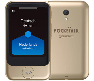 Pocketalk Translator - Vertaalcomputer Pocketalk S Translator (GOLD) - Pocket Vertaler - Draagbare Vertaalcomputer 82 Talen + Gratis Data/Internet