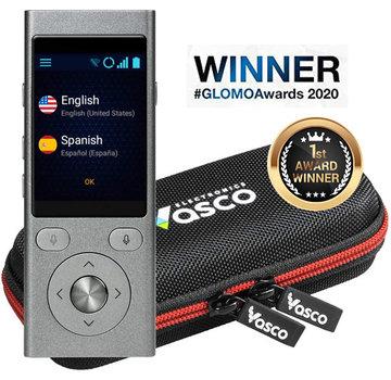 Vasco Vertaalcomputers Vasco 2 Pocket Vertaler + GRATIS Internet (Stem- en Gesprek Vertaler  - Draagbare Vertaalcomputer + Luxe Beschermhoes)