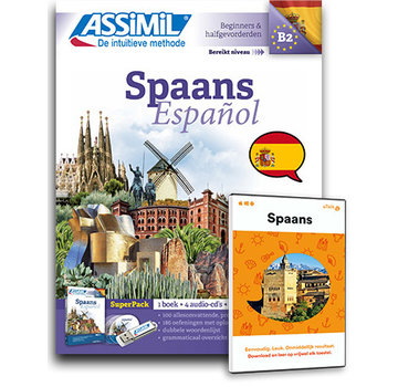 Complete taalcursus Spaans leren Online + Boek + Audio CD's - Complete cursus Spaans - Niveau A1 tot B2 - Conversatie, Spaans leren spreken en Grammatica