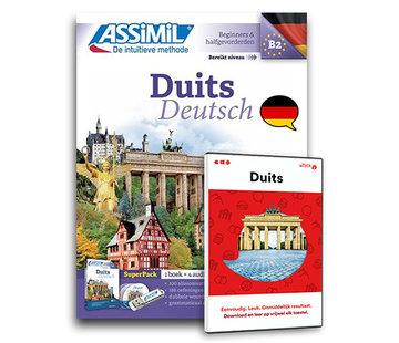 Complete taalcursus Duits leren Online + Boek + Audio CD's - Complete cursus Duits - Niveau A1 tot B2 - Conversatie, Duits leren spreken en Grammatica