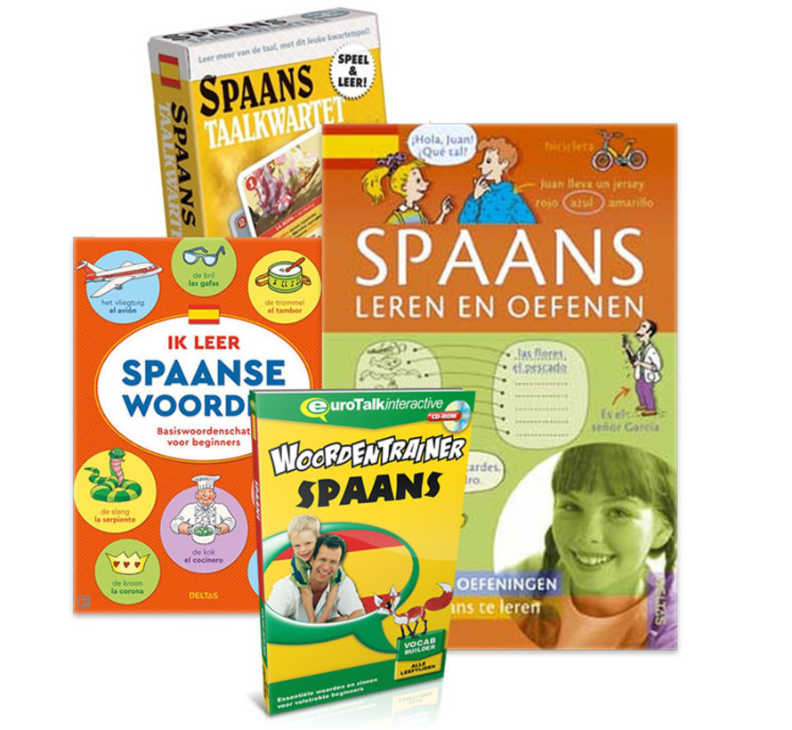 Spaans voor kinderen - Spaans leren, Spelen en Oefenen - PAKKET