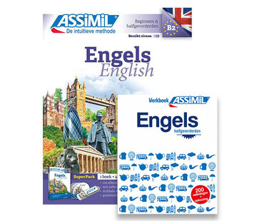 Assimil - Taalcursussen & Leerboeken Engels leren  zonder moeite  + Werkboek PAKKET (Boek + CD + Audio  + Werkboek Engels)