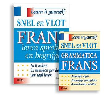 Deltas Snel en Vlot Frans leren - 2 Boeken: Lesboek Frans + Grammatica Frans