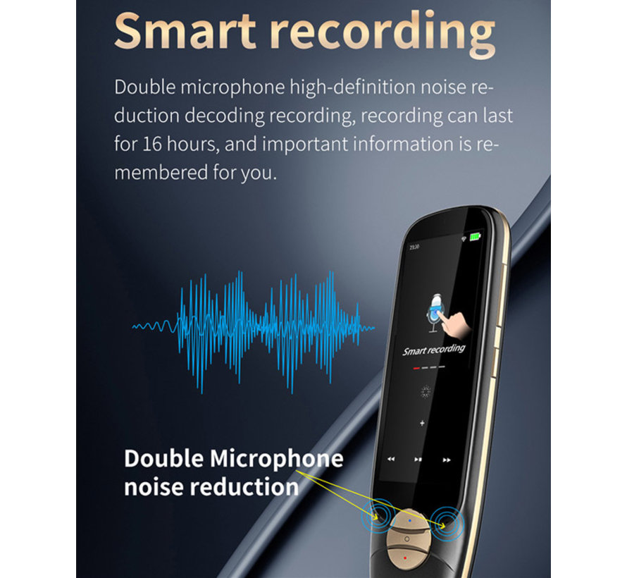 ECV - Vertaalpen - Scanning en Vertaal Pen 116 Talen - Touch Screen Vertaler Apparaat Scanner
