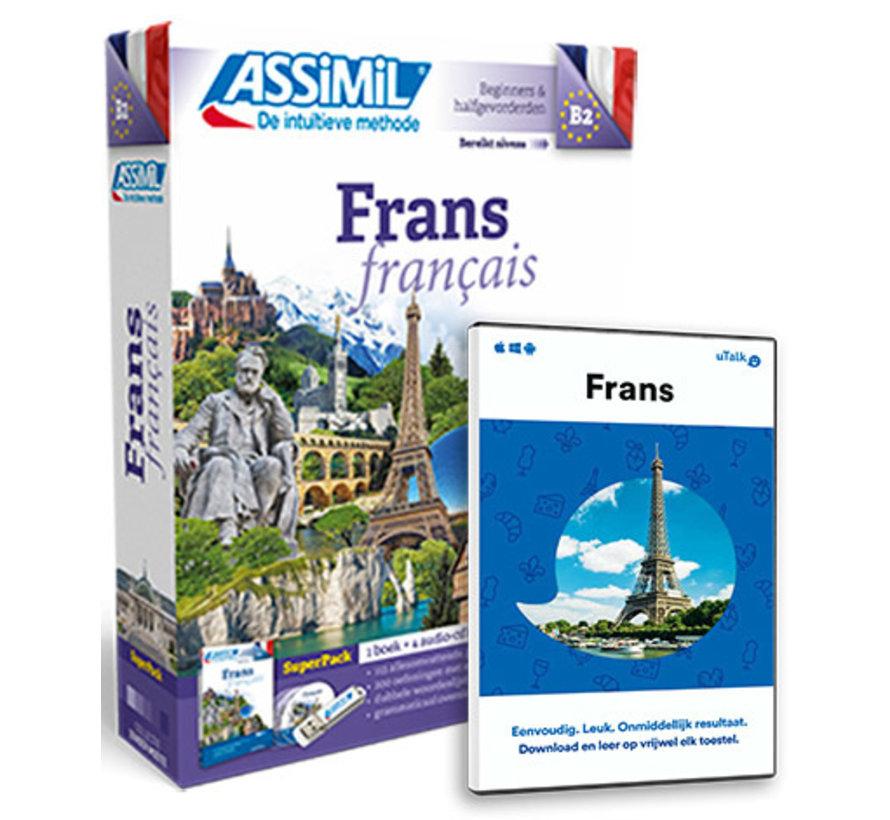Frans leren Online + Boek Audio CD's|  Complete cursus Frans