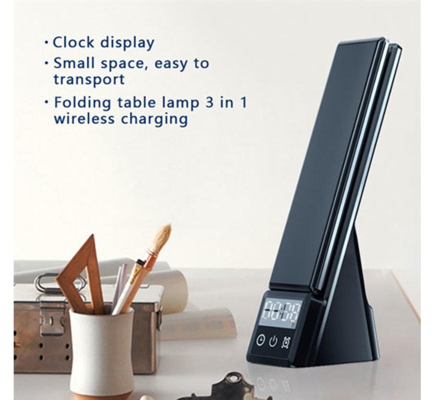 Wireless Charger 6 in 1 - Charger Smartphone, Houder, LedLamp en Clock in 1