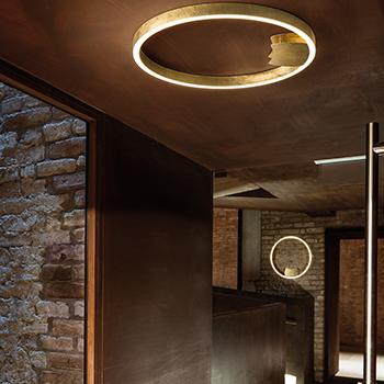 Cirkelvormige Design LED lamp met bladgoud