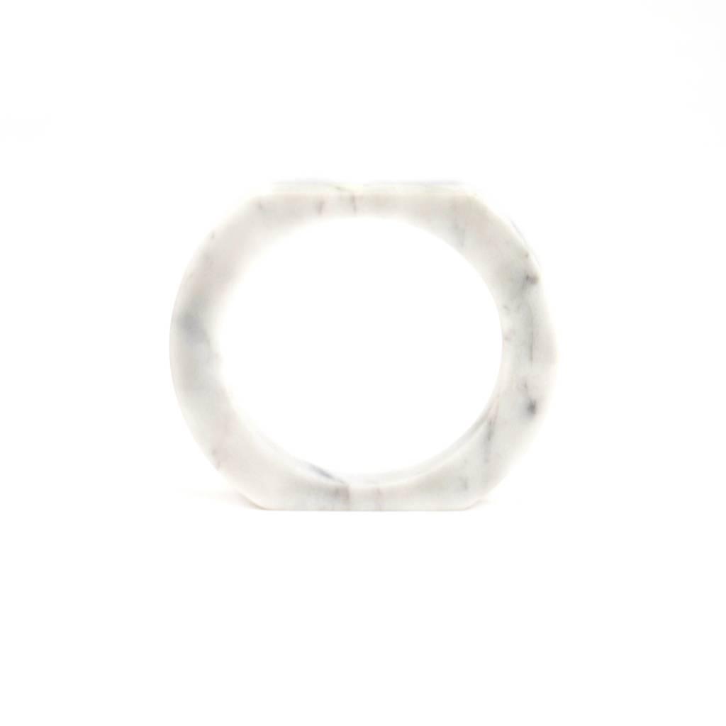 Marble bracelet No.3 | White
