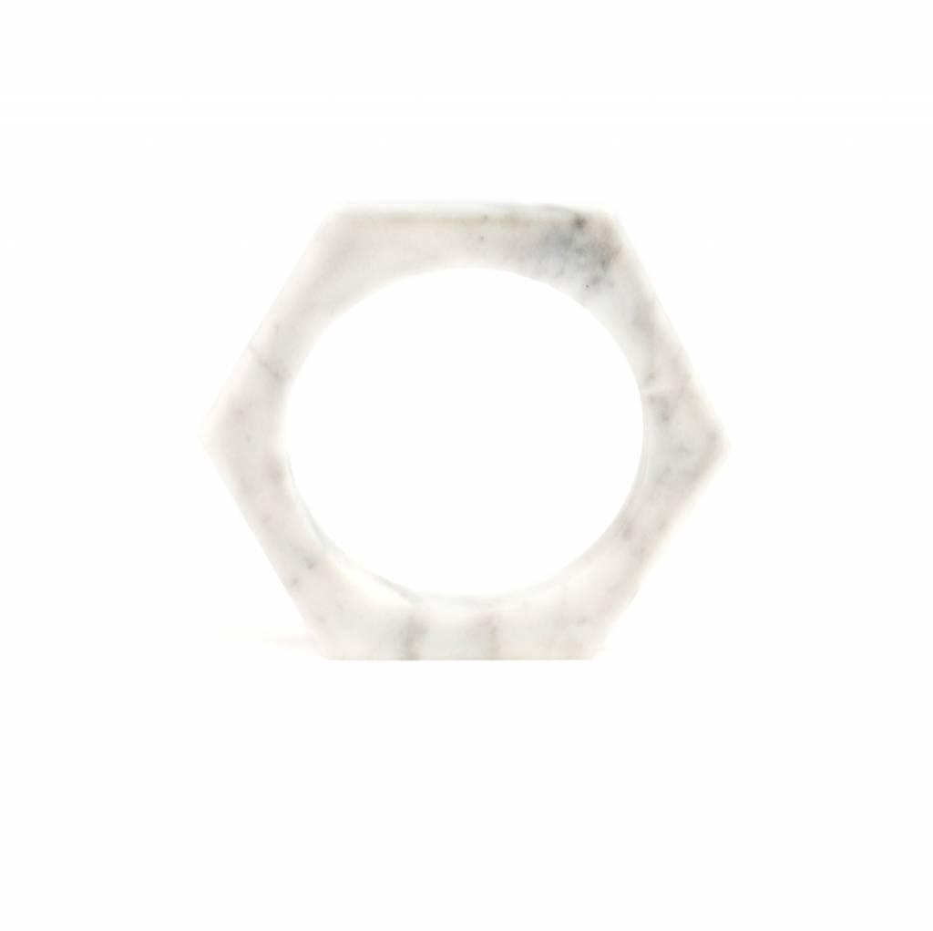 Marble bracelet No.1 | White