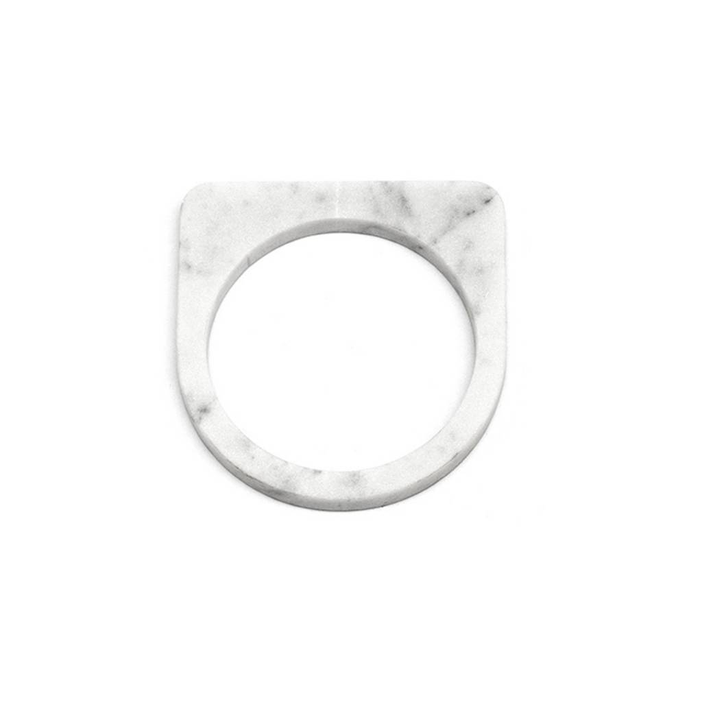 Marble bracelet No.5 | White