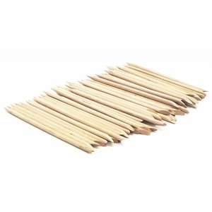 Holzstäbe mit Punkt und abgeschrägte Kante (100 Stück)