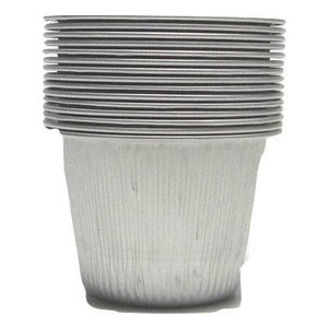 Aluminum bowls for wax heater 15 pieces   100ml