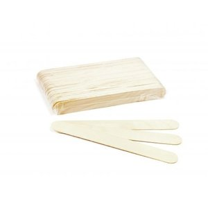ItalWax Large disposable wax spatulas made of wood 60 pieces