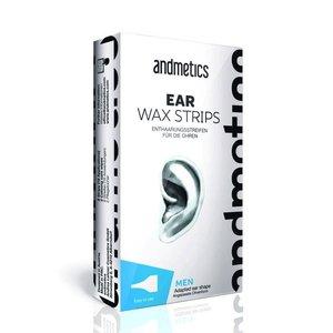Andmetics Wachsstreifen Männer Ohr und Nase
