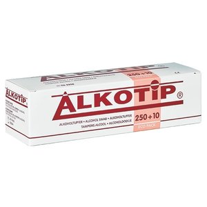 Alkotip Alcohol swabs with 70% isopropyl alcohol