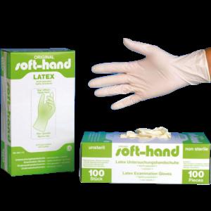 Soft-Hand Latexhandschuhe leicht gepudert - 100 Stk