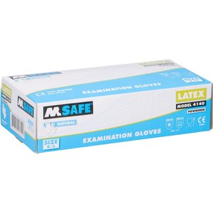 M-Safe Powdered latex gloves 100 pieces