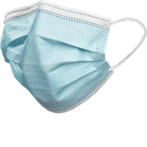 Dochem Mundmasken 3 Schichten mit Gummizug zertifiziert blau | 50 Stück