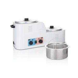 Xanitalia Professionele 2-tank Wax Heater met filtratie systeem  8 Liter