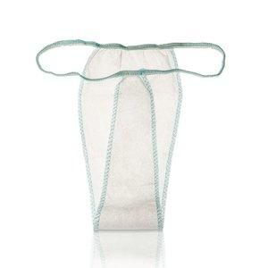 Xanitalia White disposable thong 100 pieces fleece