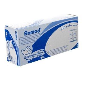 Romed Powdered latex gloves