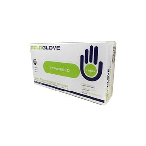 GoldGlove Latex Gloves  - Powdered, 100 pieces - extra strong