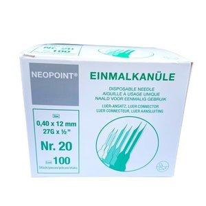 Neopoint Neopoint Einmalkanüle, 0,4 x 12 mm-Box 100 st. (Gray)
