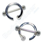"Tepelpiercing ""Ring"", 925 zilver"