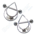 "Nipple Piercing ""Ball game"" 925 Silver"