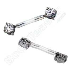 Intiempiercing sieraad Kristal, Chirurgisch staal