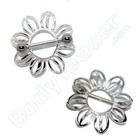 "Nipple Shield ""Floral"" 925 Silver"