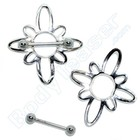 "Nipple Shield ""Flower"", 925 Silver"