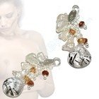 Nipple dangles with Pearls and Rutil