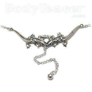 Zilveren Buikketting Back Belly Chain