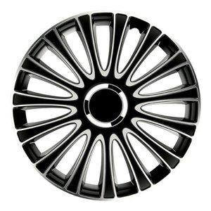 Carpoint Wieldoppenset LeMans Pro Silver Black 13inch