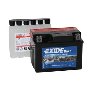 Exide motoraccu YTX4L-BS (ETX4L-BS) onderhoudsvrij