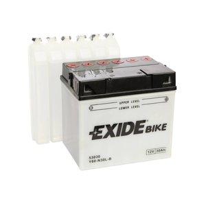 Exide motoraccu Y60-N30L-B (E60-N30L-B) traditioneel