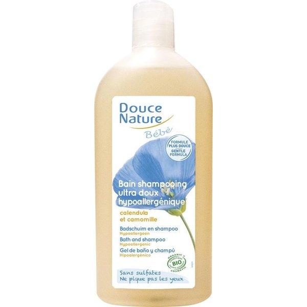Douce Nature Baby badschuim & shampoo hypoallergeen.