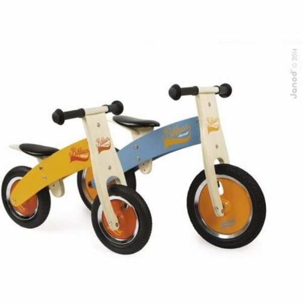 Janod My First Little Bikloon loopfiets – Oranje/Rood - Hout - 2 - 4 jaar