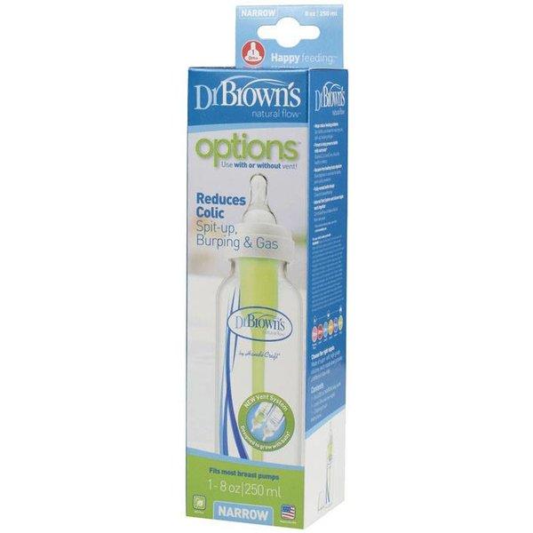 Dr Brown's Fles Dr. Brown's Fles Standaardfles 250 ml met Fase 1 Speen en Reinigingsborstel