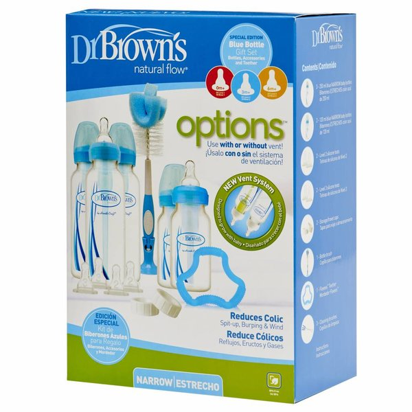Dr Brown's Fles Dr. Brown's Options Fles Giftset Standaard Blauw