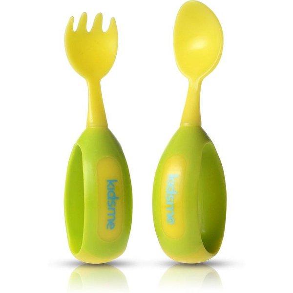 Kidsme - Toddler Spoon & Fork Set - Lime